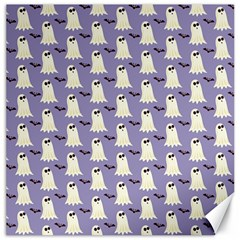 Bat And Ghost Halloween Lilac Paper Pattern Canvas 20  X 20   by Celenk