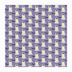Bat And Ghost Halloween Lilac Paper Pattern Medium Glasses Cloth by Celenk