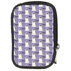 Bat And Ghost Halloween Lilac Paper Pattern Compact Camera Cases