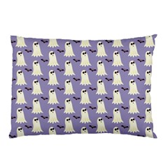 Bat And Ghost Halloween Lilac Paper Pattern Pillow Case (two Sides) by Celenk