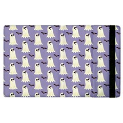 Bat And Ghost Halloween Lilac Paper Pattern Apple Ipad 2 Flip Case by Celenk