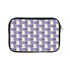 Bat And Ghost Halloween Lilac Paper Pattern Apple Ipad Mini Zipper Cases by Celenk