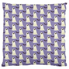 Bat And Ghost Halloween Lilac Paper Pattern Standard Flano Cushion Case (one Side)