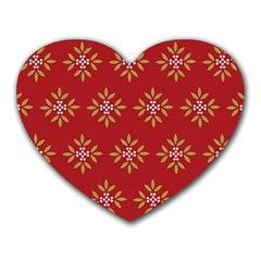 Pattern Background Holiday Heart Mousepads by Celenk