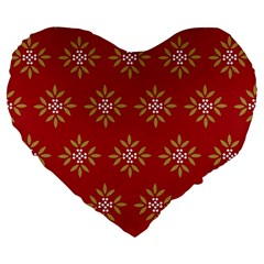 Pattern Background Holiday Large 19  Premium Heart Shape Cushions by Celenk