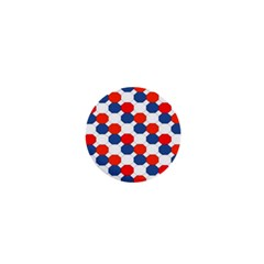 Geometric Design Red White Blue 1  Mini Magnets by Celenk
