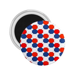 Geometric Design Red White Blue 2 25  Magnets by Celenk