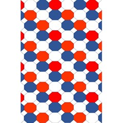 Geometric Design Red White Blue 5 5  X 8 5  Notebooks by Celenk