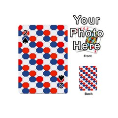 Geometric Design Red White Blue Playing Cards 54 (mini)