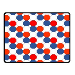 Geometric Design Red White Blue Double Sided Fleece Blanket (small)  by Celenk