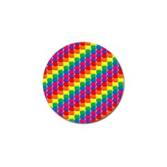 Rainbow 3d Cubes Red Orange Golf Ball Marker (10 Pack) by Celenk