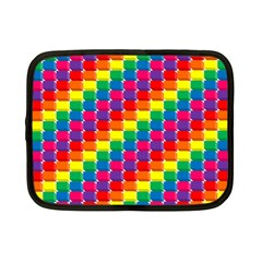 Rainbow 3d Cubes Red Orange Netbook Case (small)