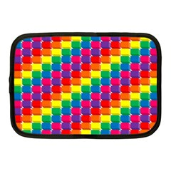 Rainbow 3d Cubes Red Orange Netbook Case (medium)  by Celenk