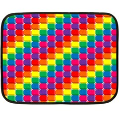 Rainbow 3d Cubes Red Orange Double Sided Fleece Blanket (mini)