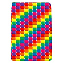 Rainbow 3d Cubes Red Orange Flap Covers (s)  by Celenk