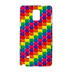 Rainbow 3d Cubes Red Orange Samsung Galaxy Note 4 Hardshell Case by Celenk