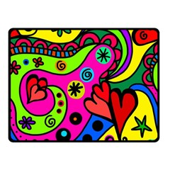 Seamless Tile Background Abstract Double Sided Fleece Blanket (small)