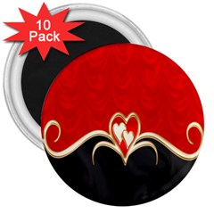 Red Black Background Wallpaper Bg 3  Magnets (10 Pack)