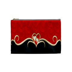 Red Black Background Wallpaper Bg Cosmetic Bag (medium)