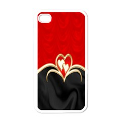 Red Black Background Wallpaper Bg Apple Iphone 4 Case (white)