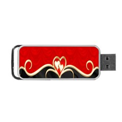 Red Black Background Wallpaper Bg Portable Usb Flash (two Sides)
