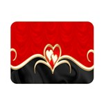 Red Black Background Wallpaper Bg Double Sided Flano Blanket (Mini)  35 x27  Blanket Back