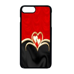 Red Black Background Wallpaper Bg Apple Iphone 8 Plus Seamless Case (black) by Celenk