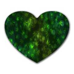 Bokeh Background Texture Marijuana Heart Mousepads