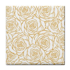 Yellow Peonies Tile Coasters by 8fugoso