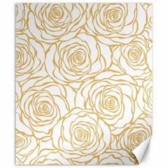 Yellow Peonies Canvas 20  X 24   by 8fugoso