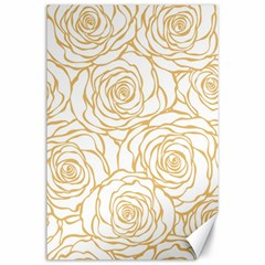 Yellow Peonies Canvas 24  X 36  by 8fugoso