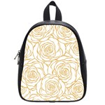 yellow peonies School Bag (Small) Front