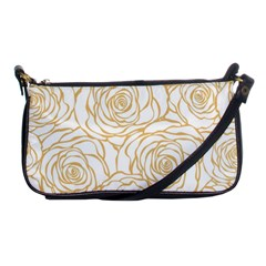 Yellow Peonies Shoulder Clutch Bags by 8fugoso