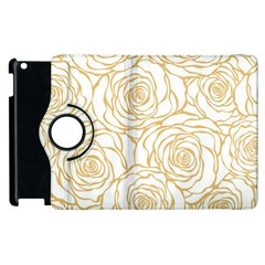 Yellow Peonies Apple Ipad 2 Flip 360 Case by 8fugoso