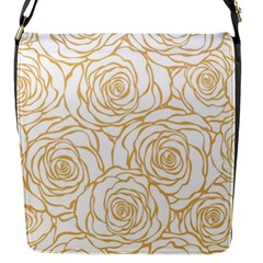 Yellow Peonies Flap Messenger Bag (s) by 8fugoso