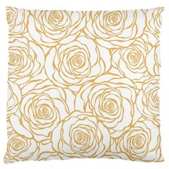 Yellow Peonies Standard Flano Cushion Case (two Sides) by 8fugoso