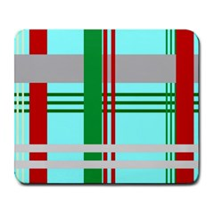 Christmas Plaid Backgrounds Plaid Large Mousepads by Celenk