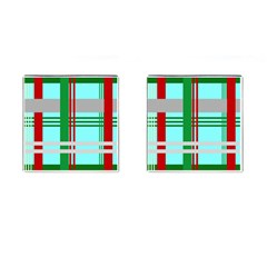 Christmas Plaid Backgrounds Plaid Cufflinks (square)