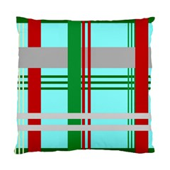 Christmas Plaid Backgrounds Plaid Standard Cushion Case (one Side) by Celenk