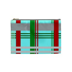 Christmas Plaid Backgrounds Plaid Cosmetic Bag (medium)  by Celenk