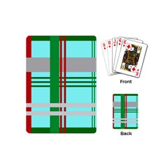 Christmas Plaid Backgrounds Plaid Playing Cards (mini)  by Celenk