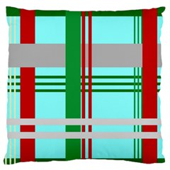 Christmas Plaid Backgrounds Plaid Large Flano Cushion Case (one Side) by Celenk