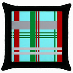 Christmas Plaid Backgrounds Plaid Throw Pillow Case (black) by Celenk