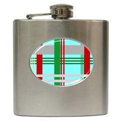 Christmas Plaid Backgrounds Plaid Hip Flask (6 Oz) by Celenk