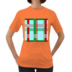 Christmas Plaid Backgrounds Plaid Women s Dark T Shirt by Celenk