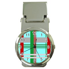 Christmas Plaid Backgrounds Plaid Money Clip Watches