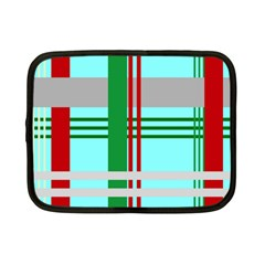 Christmas Plaid Backgrounds Plaid Netbook Case (small)  by Celenk