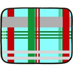 Christmas Plaid Backgrounds Plaid Double Sided Fleece Blanket (mini)  by Celenk