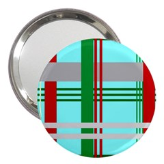 Christmas Plaid Backgrounds Plaid 3  Handbag Mirrors by Celenk