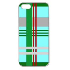 Christmas Plaid Backgrounds Plaid Apple Seamless Iphone 5 Case (clear) by Celenk